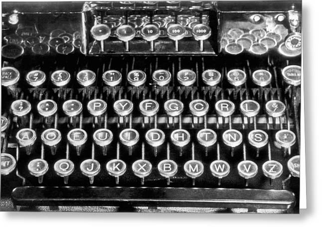 A New Typewriter Keyboard Layout Devised By Naval Officer, Augus Greeting Card