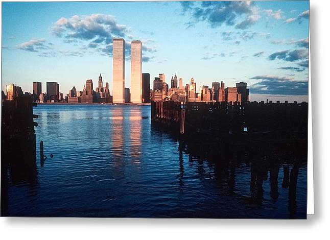 Greeting Card featuring the photograph New York Sunset 1978 by Kellice Swaggerty