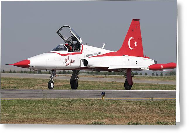 A Nf-5a Of The The Turkish Stars Greeting Card