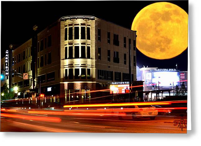 A Night Downtown Greeting Card
