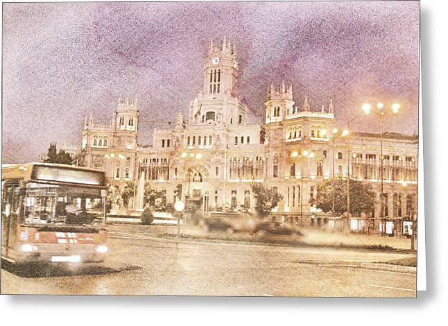 A Night In Madrid  Greeting Card