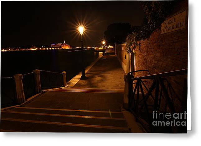 A Night Walk In Venice Greeting Card