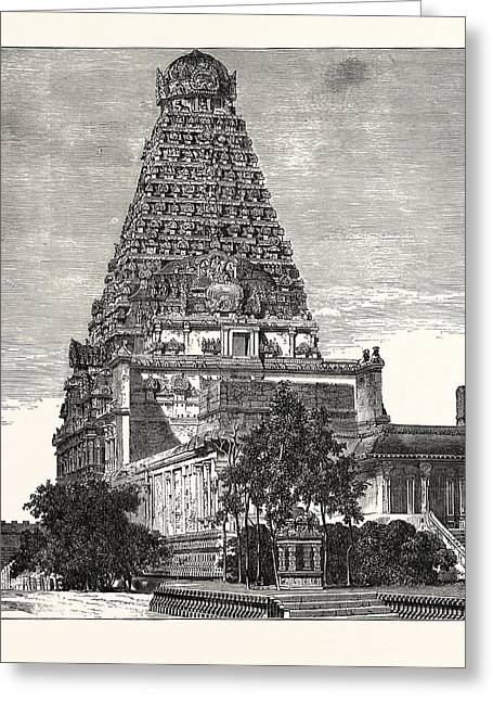 A Pagoda At Tanjore Greeting Card