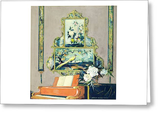 A Painting Of A House Interior Greeting Card