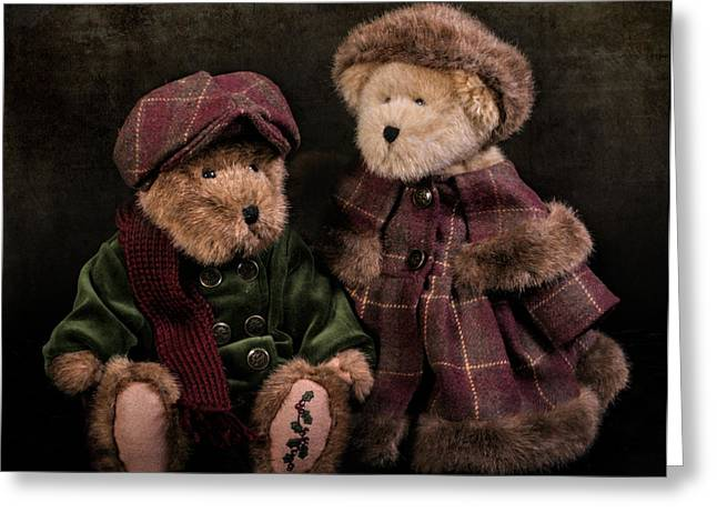 A Pair Of Bears Greeting Card by David and Carol Kelly