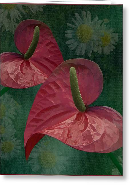 Greeting Card featuring the photograph A Pair Of Hearts by Steve Zimic