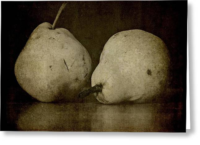 A Pair Of Pears Greeting Card by Patricia Strand