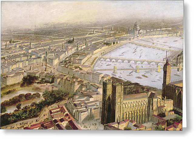 A Panoramic View Of London Greeting Card by English School