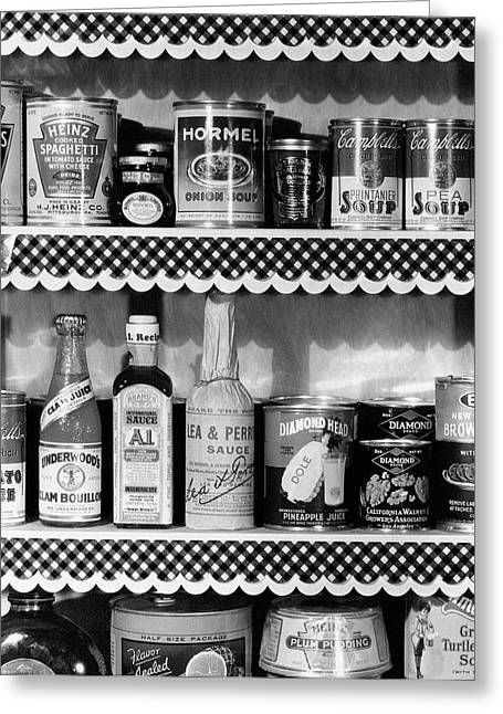 A Pantry Filled With Food Greeting Card by Peter Nyholm