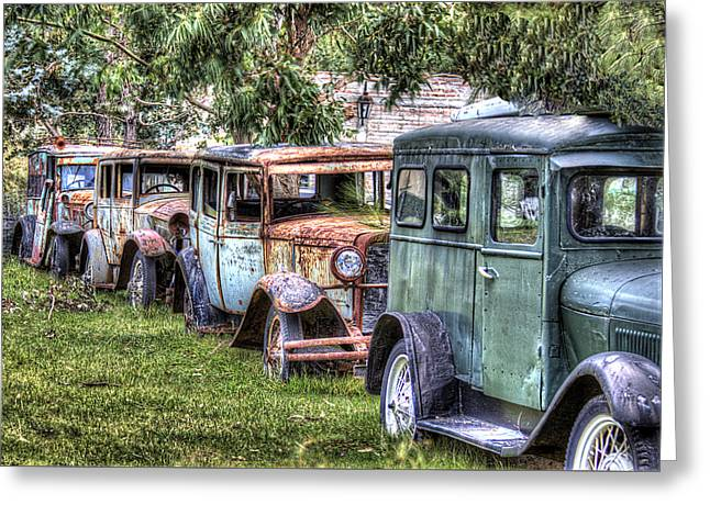 A Parade From The Past Greeting Card by Danny Pickens