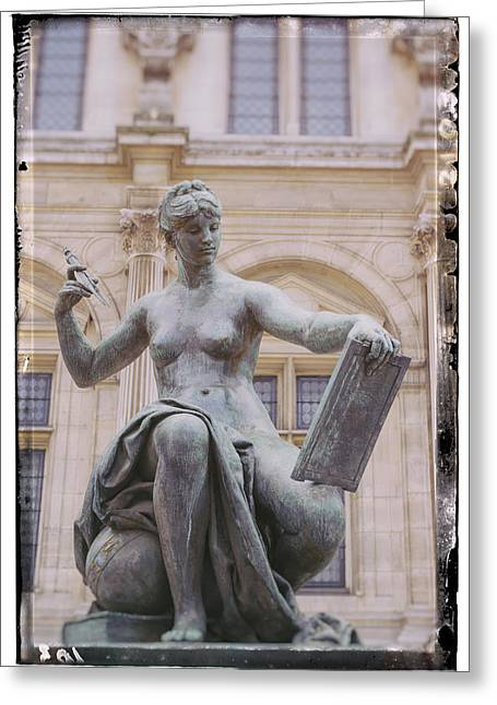 A Paris Statue Greeting Card by Georgia Fowler