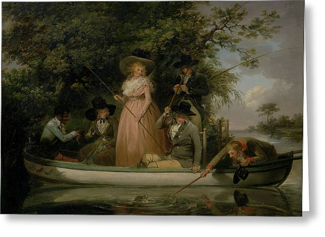 A Party Angling, George Morland, 1763-1804 Greeting Card