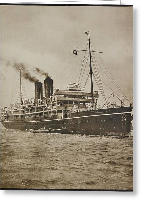 A Passenger Steamer. The S.s. Morea Greeting Card