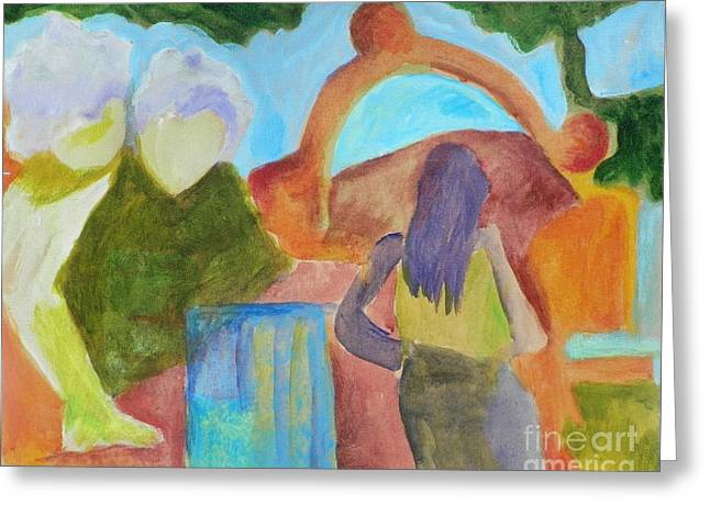 Greeting Card featuring the painting A Path To Discover- Caprian Beauty Series 1 by Elizabeth Fontaine-Barr