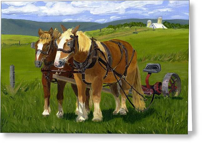 A Pause In The Mowing Greeting Card