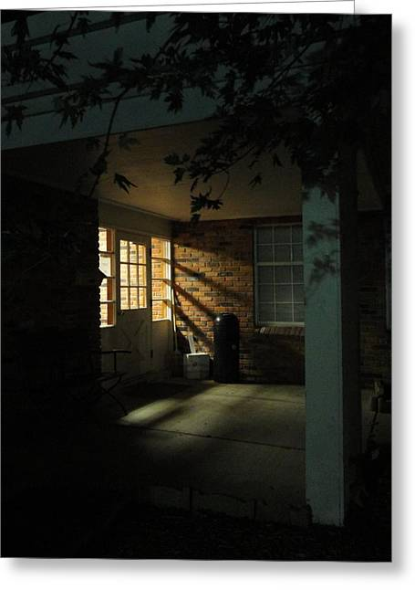 A Peaceful Corner Entrance Greeting Card by Guy Ricketts