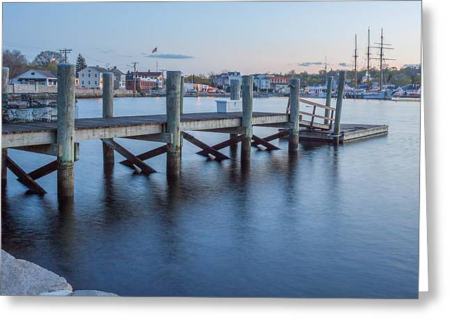 A Peaceful Dock -  Mystic Ct Greeting Card