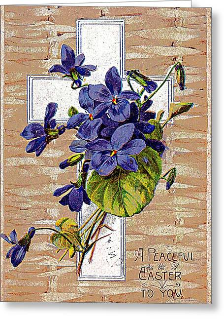 A Peaceful Easter To You 1907 Vintage Postcard Greeting Card by Audreen Gieger-Hawkins