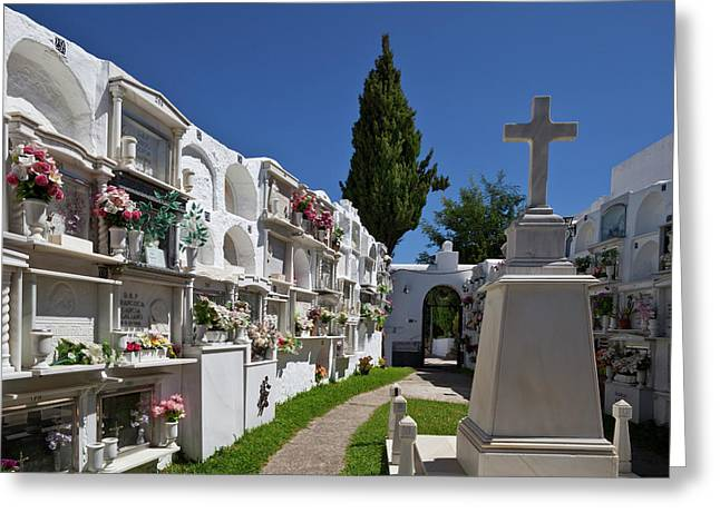 A Peaceful Graveyard In Casares,malaga Greeting Card