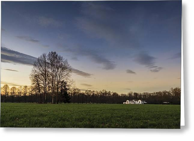A Peaceful Sunset Greeting Card by Alfio Finocchiaro