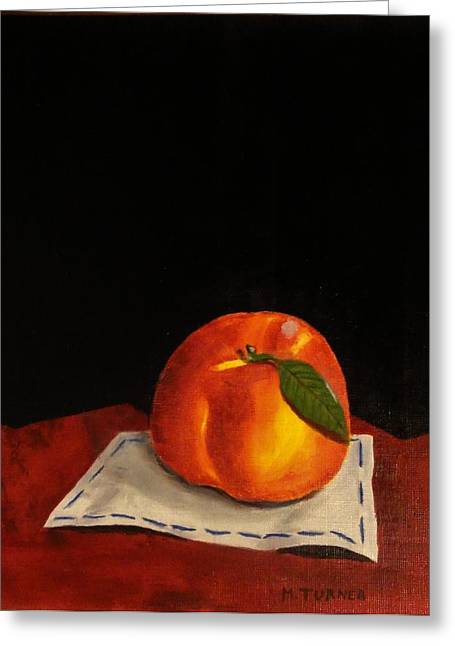 A Peach Greeting Card by Melvin Turner