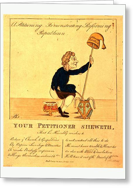 A Petitioning, Remonstrating, Reforming, Republican Greeting Card by Litz Collection