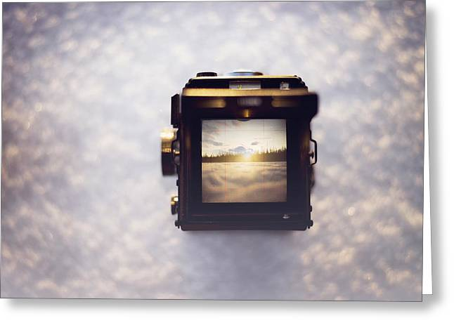 A Photographer's Perspective Greeting Card by Amber Fite