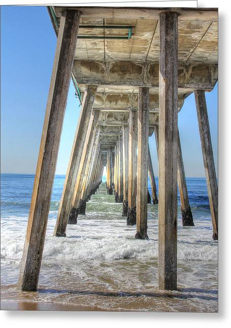 A Pier From Under Greeting Card