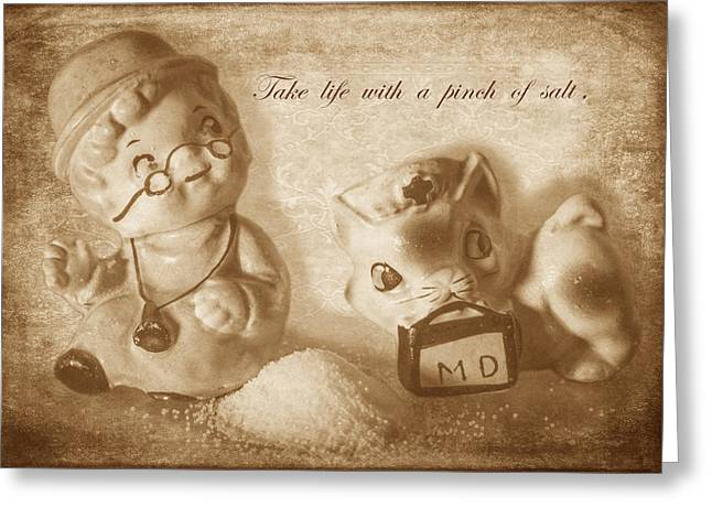 A Pinch Of Salt Greeting Card by Angie Vogel