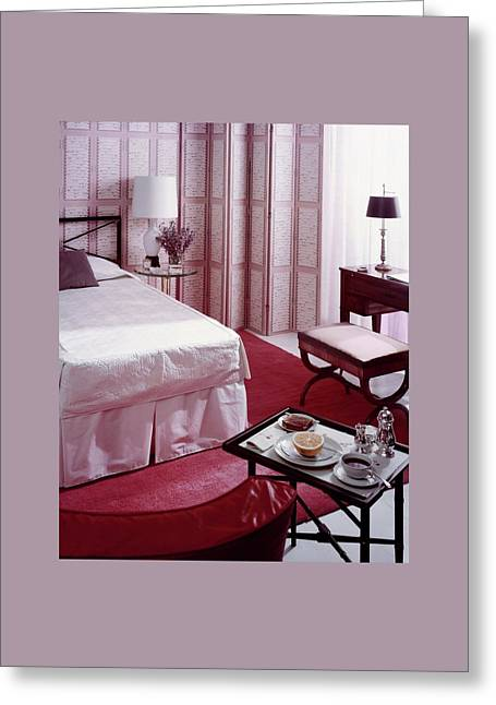 A Pink Bedroom Greeting Card by Haanel Cassidy