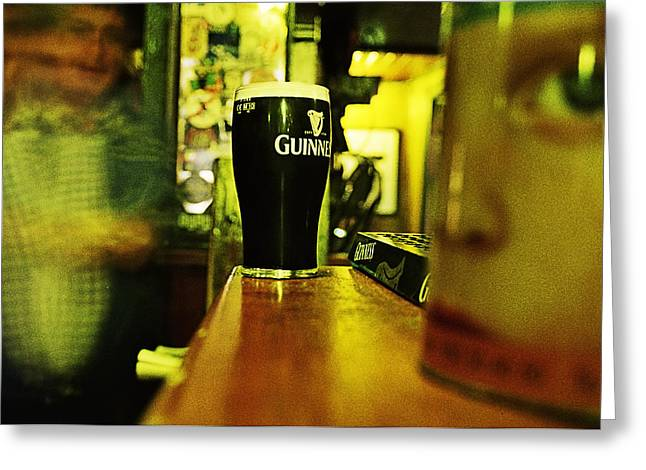 A Pint Greeting Card by Tony Reddington