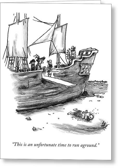A Pirate Shit Stuck On Land Greeting Card