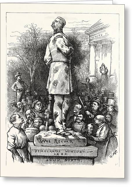 A Pity, Democratic Nomination 1880, Politics, Political Greeting Card by American School