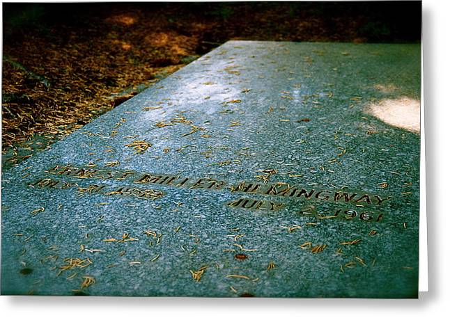 A Place In The Sun Ernest Hemingway Grave Site  Greeting Card