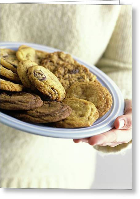 A Plate Of Cookies Greeting Card