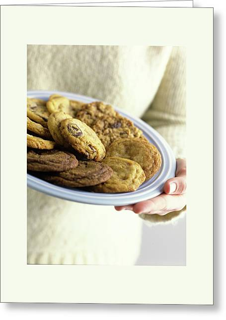A Plate Of Cookies Greeting Card by Romulo Yanes