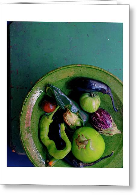 A Plate Of Vegetables Greeting Card