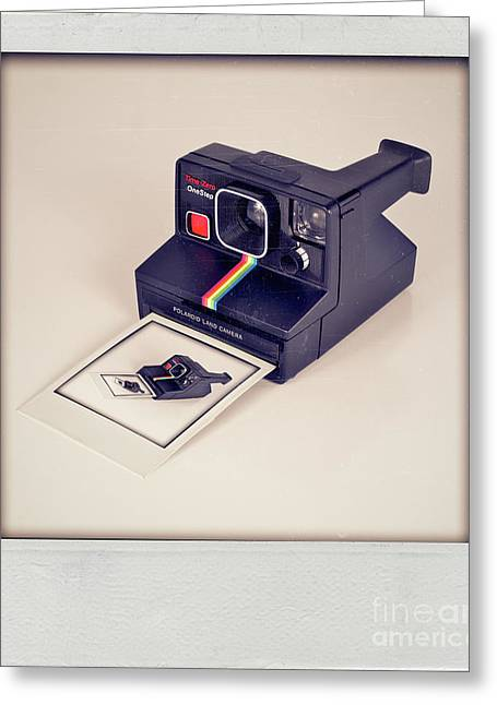 A Polaroid Of A Polaroid Taking A Polaroid Of A Polaroid Taking A Polaroid Of A Polaroid Taking A .. Greeting Card