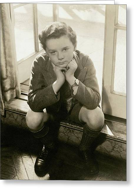 A Portrait Of Actor Freddie Bartholomew Greeting Card by Lusha Nelson