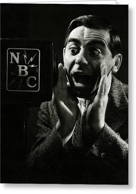 A Portrait Of Eddie Cantor Speaking Greeting Card by George Hoyningen-Huen?
