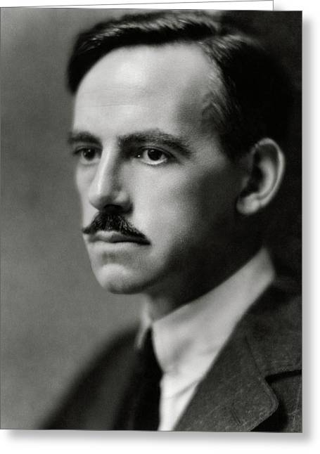 A Portrait Of Eugene O'neill Greeting Card by Nicholas Muray