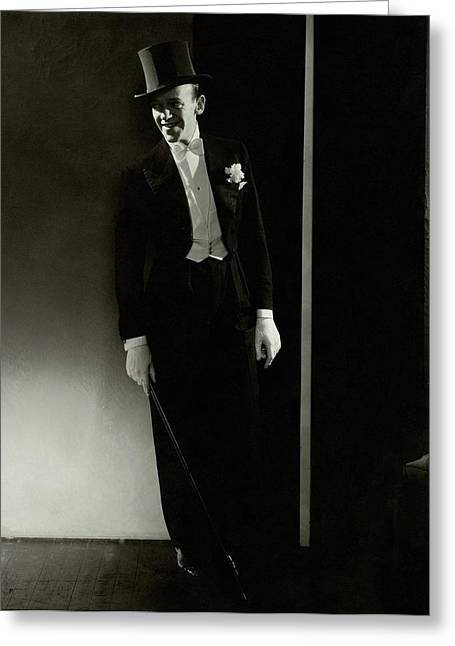 A Portrait Of Fred Astaire Greeting Card by Edward Steichen
