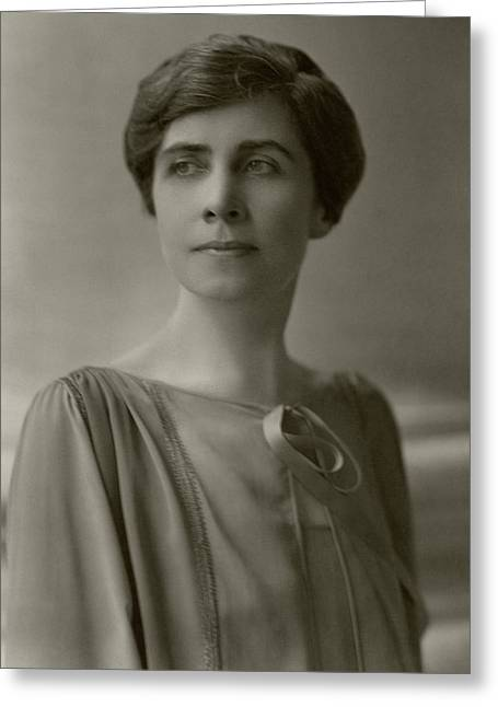 A Portrait Of Grace Coolidge Greeting Card by Nickolas Muray