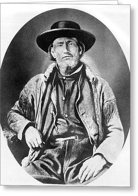 A Portrait Of Jim Bridger Greeting Card by Underwood Archives