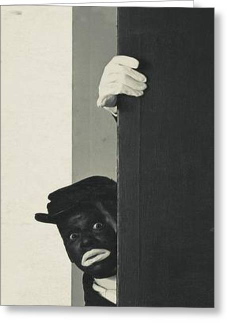 A Portrait Of Johnny Hudgins In Blackface Greeting Card by George Hoyningen-Huene