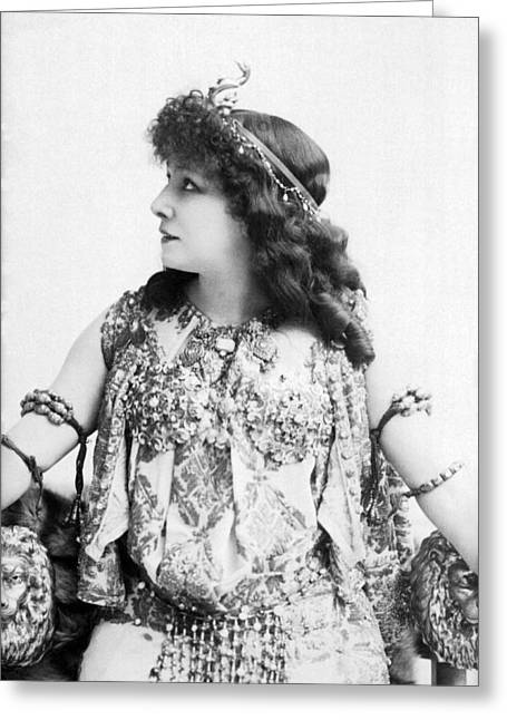 A Portrait Of Sarah Bernhardt Greeting Card by Underwood Archives
