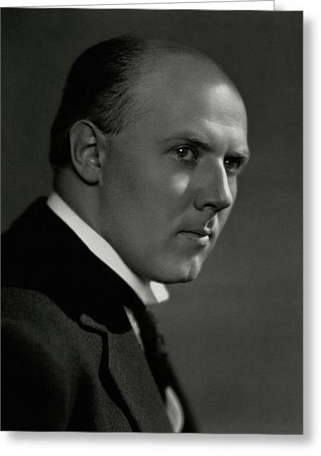 A Portrait Of Walter Gieseking Greeting Card by Nicholas Muray