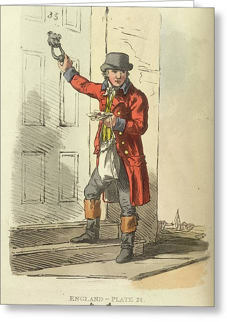 A Postman Greeting Card by British Library