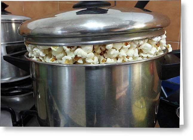 A Pot Of Pop Corn Greeting Card