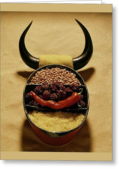 A Pot With Beans Greeting Card by Rudy Muller